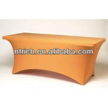 Salon tissu de table spandex, tissu de table carrée lycra pour banquet