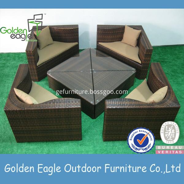 wicker outdoor furniture adjustable feet