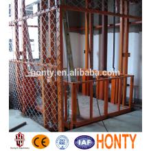barato elevador de carga vertical hidráulica portátil