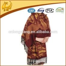 Conception personnalisée 2015 Nouveautés Chine Factory Price 100% Silk Pashmina Shawl Manufacturers
