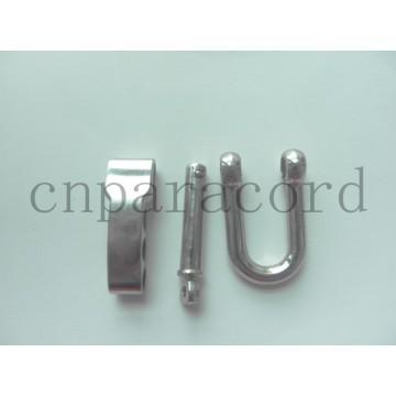 Fivela ajustável de aço inoxidável de bloqueio fácil