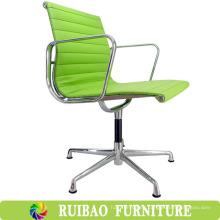 Diseño moderno silla de oficina profesional de asiento de canasta de alta calidad con cuero naranja