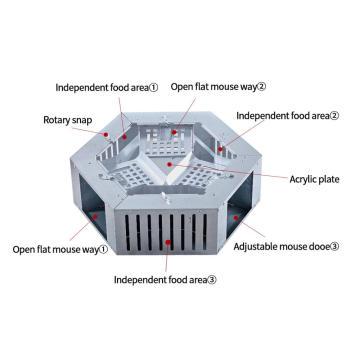 Piège à souris électrique Humane pour rongeurs d'extérieur