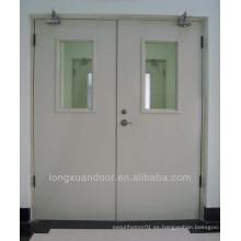 Puertas ignífugas de acero seguro con barra de empuje para la escuela Quality Choice