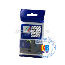 Compatible feature 12mm black on white Tz tape Tz-231 laminated cassette tape