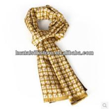 Silk Necktie Double Layer Self Fringe Silk Man Scarf