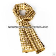 Шелковый галстук с двойным слоем Self Fringe Silk Man Scarf