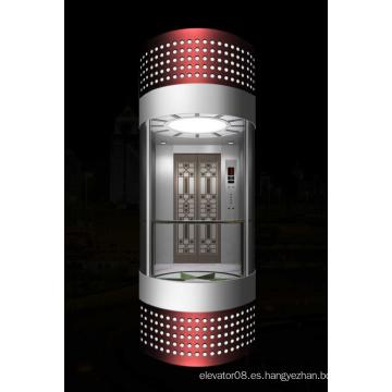 1600kg Elevador de cristal grande