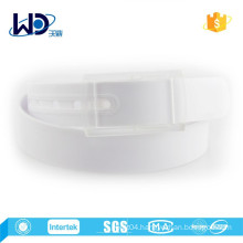 2015 White Color Unisex 100% Silicone Belts