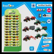 Caminhão de trator de fazenda rolando grátis com pdq brinquedos de fazenda de caixa de papel