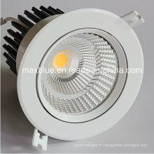 20W Epistar / CREE COB LED encastré plafonnier Downlight