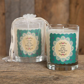scented glass jar candles with handbag