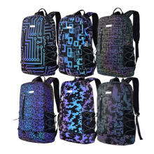 Military Camouflage Casual Sports Reflective Backpacks for Men Hiking Camping Traveling