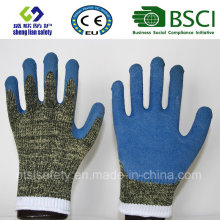 Aramid/Steel Liner with Smart Grip Latex Coating Safety Gloves