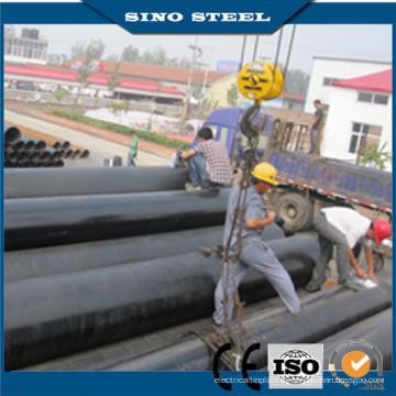 Negro ASTM A106 Gr. Tubería de acero sin costura B Sch40