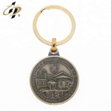 Custom round 3d metal own design coin token keychain