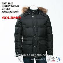 Luxus Marke Männer Kleidung Waschbär Pelz Daunenjacke Feather Shaoxing Hersteller