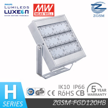 120W Waterproof and Shockproof LED Floodlight with Clear PC and IP66 Ik10