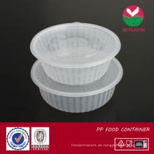 Food Container (klar rund mit Deckel)