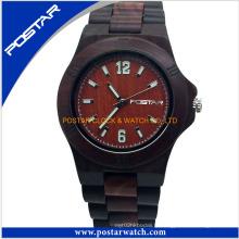 Montre de montre de montre en bois imperméable chaude de dames de vente avec de haute qualité