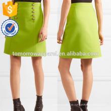 Nova Moda Pérola Embelezada Lã-crepe Mini Saia Lápis DEM / DOM Fabricação Atacado Moda Feminina Vestuário (TA5119S)