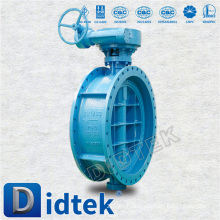 Didtek Triple Offset 3 Inch Flange End Butterfly Valve In Actuator