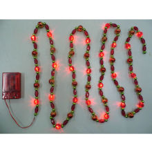 Battery Operated Novelty Bead Christmas LED Light, Made of AcrylicNew
