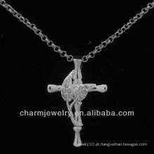 Venda Por Atacado cruz de cristal pingente novo design PSS-016