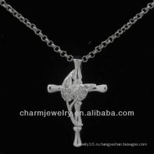 Оптовый кристаллический шкентель креста Новая конструкция PSS-016