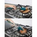 Pinces de cuisine - Pinces de cuisson en silicone en acier inoxydable