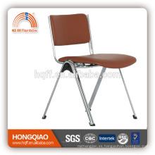 CV-B192BS espalda media PU respaldo y asiento base de metal cromado fijo silla de oficina