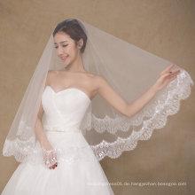 Einfache Design Eine Schicht Hochzeit Brautschleier