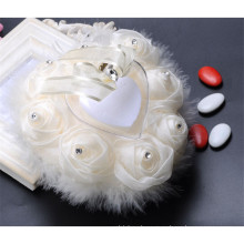 Элегантный высокое качество бисероплетение красивые свадебные украшения кольцо предъявителя подушку