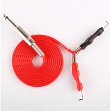 Profesional nuevo Gel de silicona tatuaje Power suministro Clip cable suave