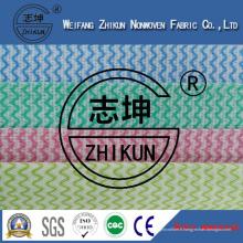 Tissu non tissé coloré de Spunlace pour la cuisine (38g-100g)