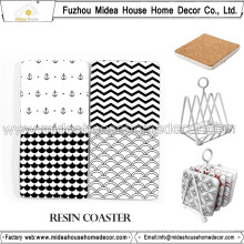 Coasters en résine carrée de haute qualité