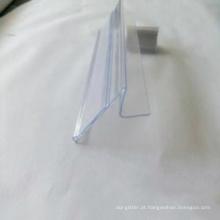 Etiqueta plástica transparente do pvc para o supermercado