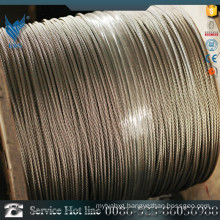 ASTM A276 AISI321 Zinc galvanized wire rope