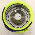 Neue 360 Magic Spin Mop Einzel Eimer 2 Mikrofaser Rotierende Köpfe