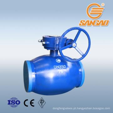 Válvula de esfera de solda completa regular cf8m Válvula de esfera de solda standard api weld