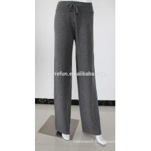 classique 12gg tricoté cordon femmes pur pantalons de salon en cachemire