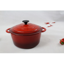 Oval Enameled Cast Iron Casserole
