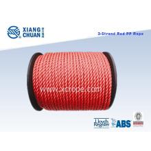 Lr a approuvé la corde d'amarrage de polyester de corde de polypropylène de la corde 3 de corde de pp