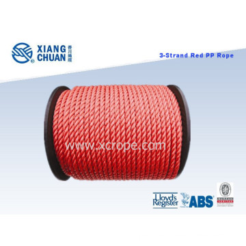 Lr Approved 3 Strand PP Rope Polypropylene Rope Polyester Mooring Rope