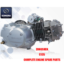 Zongshen C135 Πλήρη ανταλλακτικά κινητήρα Γνήσια ανταλλακτικά