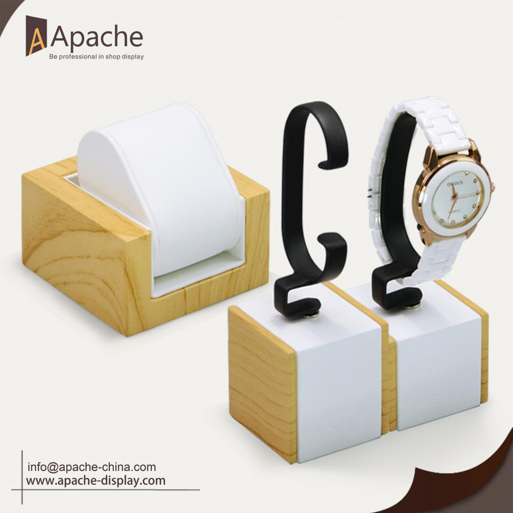 Wood Grain Watches Counter Display Base