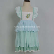 handmade embroidery summer boutique dress for kids