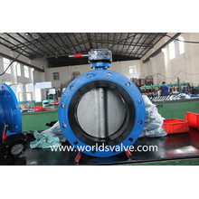 Double Flanged Butterfly Valve with Vulcanized Sealing