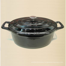 Black Highlight Enamel Cast Iron Casserole Size 31X23