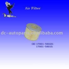 Cartucho de filtro de aire auto Toyota